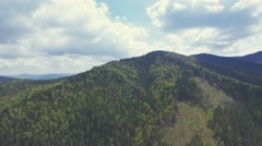 360 degree view Flight in Carpathian mountains. Turn Right. 4k, 30fps Stock Footage