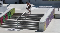 Gabriel Ribeiro during the DC Skate Challenge Stock Footage