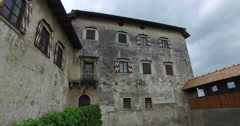 Bled Castle of Slovenia Walls from inside Stock Footage