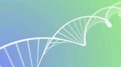 DNA double helix animation loop with depth green blue - stock footage