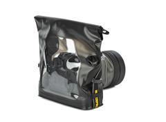 Camera in waterproof case Stock Photos