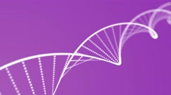 DNA double helix animation loop with depth purple Stock Footage