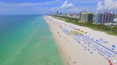 Miami Beach Florida USA aerial drone video 4k Stock Footage