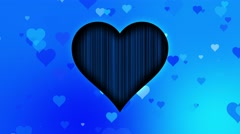 Romantic Colorful Hearts Motion Background Hearts Blue Stock Footage