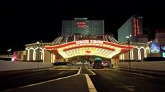 Circus Circus Hotel Las Vegas at night. Nevada, USA - stock footage