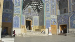 Lotfollah Mosque entrance Isfahan Stock Footage