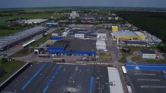 4822 Industrial area - production factories aerial Stock Footage