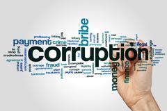 Corruption word cloud Stock Illustration