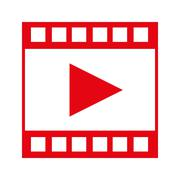 Video tape segment with play icon Stock Illustration