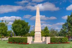 University of Oklahoma Veteran's Memorial Stock Photos
