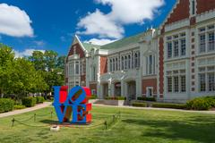 Love Sculpture and Visitor Center at University of Oklahoma - stock photo