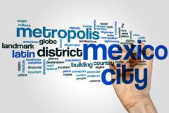 Mexico City word cloud Piirros