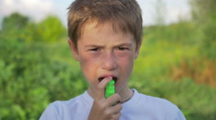 Children take medicines for allergies Stock Footage