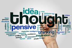 Thought word cloud Stock Illustration
