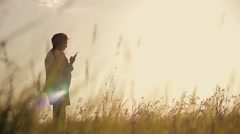 Girl bathes in the sun Stock Footage
