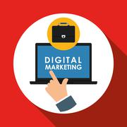 Flat illustration about digital marketing design Stock Illustration