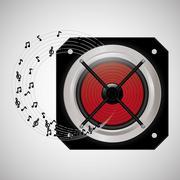 Flat illustration about speaker design Stock Illustration