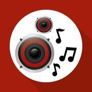 Flat illustration about speaker design - stock illustration