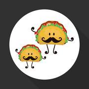 Flat illustration about fast food design Stock Illustration