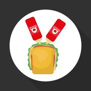 Flat illustration about fast food design Stock Illustration