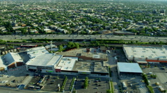 Aerial view of urban freeways and suburban areas Chicago Illinois US Stock Footage