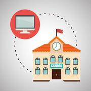Flat illustration about back to school design - stock illustration