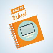 Flat illustration about back to school design, education related, education - stock illustration
