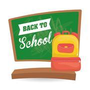 Flat illustration of Back to School design Piirros