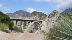 Tujunga Bridge Angeles Crest mountains time lapse Stock Footage