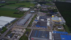 4823 Industrial area - production factories aerial Stock Footage