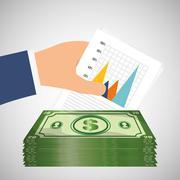 money and statistics - stock illustration