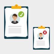 Flat illustration about Human resources , vector Stock Illustration