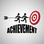 Flat illustration about achievement design Stock Illustration
