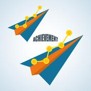 Flat illustration about achievement design - stock illustration