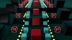 Geometric Carrousel Vj Loop Stock Footage