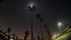 San Diego LaJolla beach nighttime campfire boardwalk moon lapse 30fps Stock Footage
