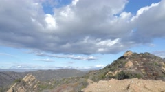 Topanga Canyon mother's rock timelapse Stock Footage