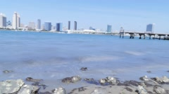 San Diego city skyline timelapse from Coronado Island 30fps Stock Footage