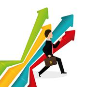 Flat illustration of profit design , editable vector - stock illustration