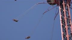 Chair Swing Amusement Park Ride Stock Footage