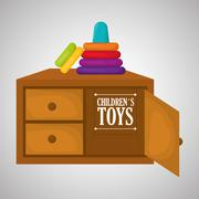 Toy design, childhood and game concept - stock illustration