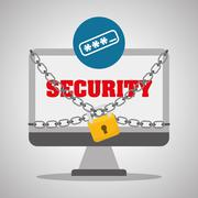 Security system design, warning and technology concept Stock Illustration