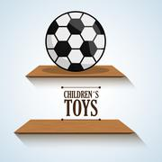 Toy design, childhood and game concept Stock Illustration