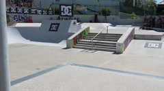 Jorge Simoes during the DC Skate Challenge Stock Footage