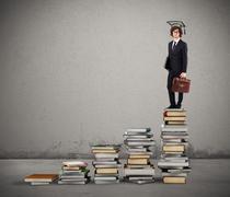 Path of undergraduate studies - stock photo