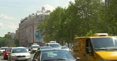 Rush Hour On Gheorghe Magheru Boulevard In Bucharest Stock Footage