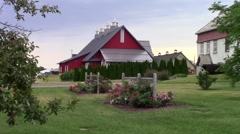A barn at an Agricultural museum Stock Footage