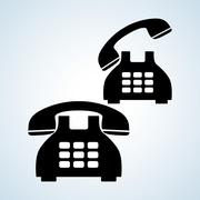 Phone design, technology and antique concept, editable vector - stock illustration