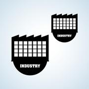 INdustry design, plant and factory concept, editable vector Piirros