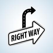 Way design, street and road sign concept, editable vector Piirros